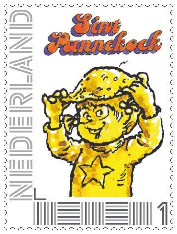 Postzegel waarde 1 Sint Pannekoek
